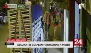 Asaltantes golpean y arrastran a mujer en Villa El Salvador