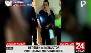 San Bartolo: detienen a instructor policial por tocamientos indebidos contra postulantes