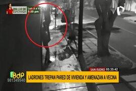 San Isidro: ladrones trepan pared de vivienda y amenazan a vecina que reportó robo