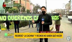 """La Victoria: protestan exigiendo retiro de recicladores en la zona de la """"cachina"""""""