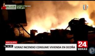 Arequipa: voraz incendio destruyó vivienda en Ocoña