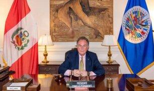 Perú asume la presidencia del Consejo Permanente de la OEA