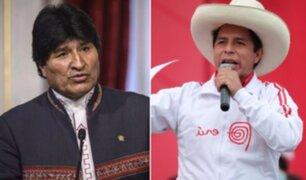 Evo Morales se reunió con presidente Pedro Castillo el miércoles 11 de agosto