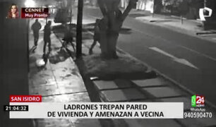 Banda delincuencial estaría detrás de varios robos a casas en San Isidro