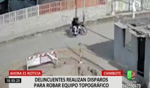 Chimbote: delincuentes lanzan disparos al aire para robar equipo topográfico