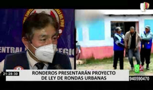 Asociación de Ronderos presentarán proyecto de Ley de Rondas Urbanas