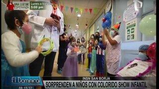 """INSN San Borja: sorprenden a niños en el """"Día del buen trato al paciente"""""""
