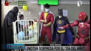 Superhéroes visitaron a menor que superó 14 cirugías en INSN Breña