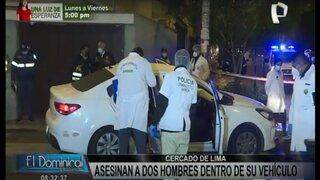 Cercado de Lima: acribillan a dos hombres dentro de su vehículo