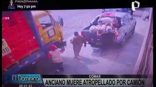 Comas: anciano fallece tras ser arrollado por camión repartidor