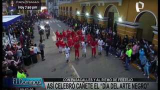 Cañete celebró el Día del Arte Negro con danzas y pasacalles