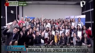 """""""Girls for Change"""": Embajada de Estados Unidos ofrece 200 becas gratuitas para escolares"""