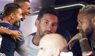 PSG venció 4-2 a Estrasburgo con Messi y Neymar en la tribuna