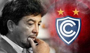 Club Cienciano anunció la salida del DT  Víctor Rivera