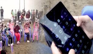 Municipalidad de Comas distribuye tabletas durante el Día del Niño