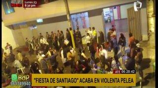 "Ate: calle donde se realizó ""Fiesta de Santiago"" terminó repleta de basura"
