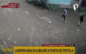 VMT: ladrón asalta a mujer a punta de pistola
