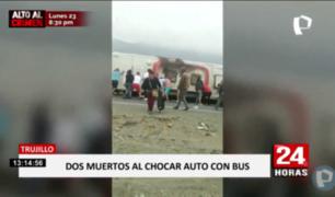 La Libertad: dos muertos y ocho heridos tras choque en la Panamericana Norte