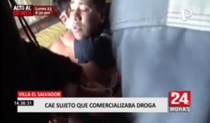 Villa El Salvador: cae sujeto que comercializaba droga