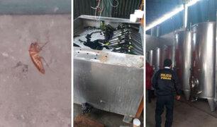 Pachacamac: intervienen fábrica donde elaboraban licores en condiciones insalubres
