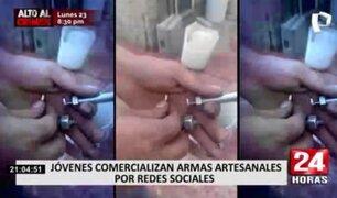 Jóvenes comercializan en redes sociales armas artesanales
