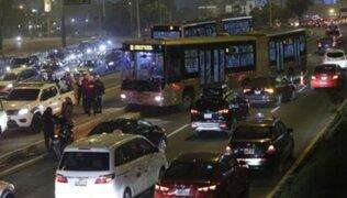 Se registró tráfico en la Vía Expresa tras despiste de bus del Metropolitano