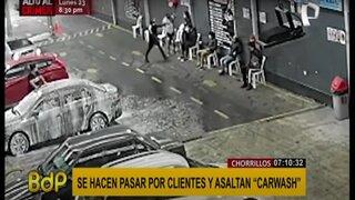 Chorrillos: delincuentes extranjeros fingen ser clientes y roban carwash