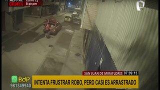 SJM: hombre intenta evitar robo de sus maquinarias y casi es arrastrado