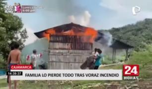 Cajamarca: familia lo pierde todo tras voraz incendio