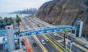Miraflores: se inaugura puente inclusivo y se instalan geomallas en la Costa Verde