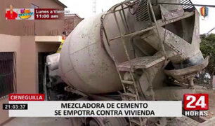 Cieneguilla: camión que impactó contra vivienda todavía no es removido