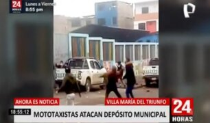 VMT: fiscalizador herido por ataque de mototaxistas en depósito municipal