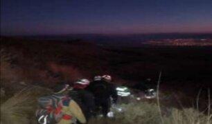 Arequipa: rescatan a dos personas perdidas en las faldas del volcán Misti