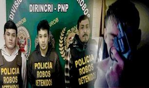 'Cholo Percy' y su banda de extorsionadores fueron detenidos por la PNP