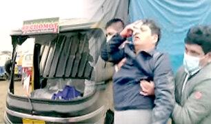 Inspector pierde ojo durante ataque violento de mototaxistas a depósito municipal