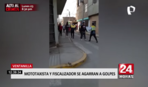Mototaxista y fiscalizador se agarran a golpes en Ventanilla