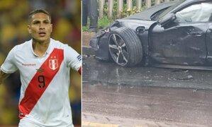 Paolo Guerrero sufrió aparatoso accidente automovilístico en Porto Alegre