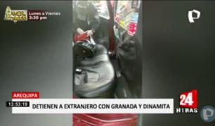 Arequipa: intervienen a extranjero con arma, granada y hasta dinamita