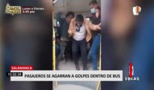 Pasajeros se agarran a golpes dentro de bus en Salamanca