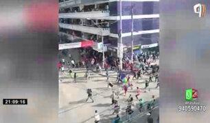 La Victoria: ambulantes atacaron a fiscalizadores con palos