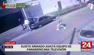 Asaltaron a equipo de Panamericana Televisión en San Luis