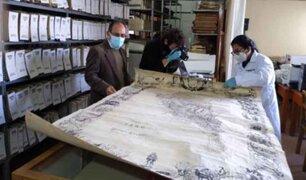Cusco: expertos inician trabajos para restaurar de forma integral mapa histórico del Perú de 1862