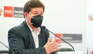 Bellido anuncia que pedirán facultades legislativas al Congreso
