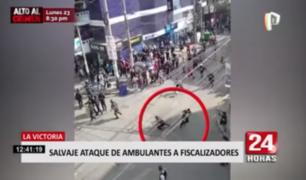 Dos fiscalizadores heridos dejó enfrentamiento con ambulantes en La Victoria