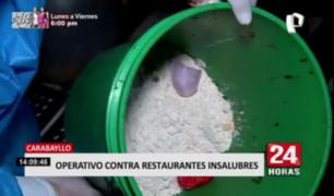Carabayllo: realizan operativo contra restaurantes insalubres