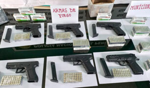 Decomisan armas de fuego y municiones que fueron enviadas como encomienda de Arequipa a Lima