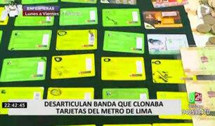 Desarticulan banda que se dedicaba a clonar tarjetas del Metro de Lima