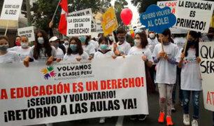 San Borja: padres de familia marchan exigiendo el retorno de las clases presenciales