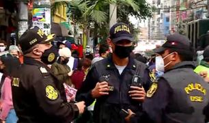 La Victoria: más de 150 policías reforzarán seguridad en el emporio comercial de Gamarra