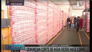 Empresa de colchones denuncia desabastecimiento de agua desde hace 5 días
